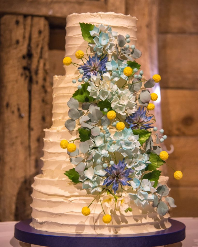 Buttercream covered Wedding Cake