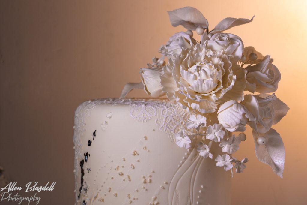 White wedding cake suffolk